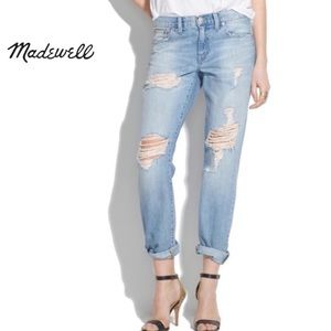 Madewell distressed boy jeans